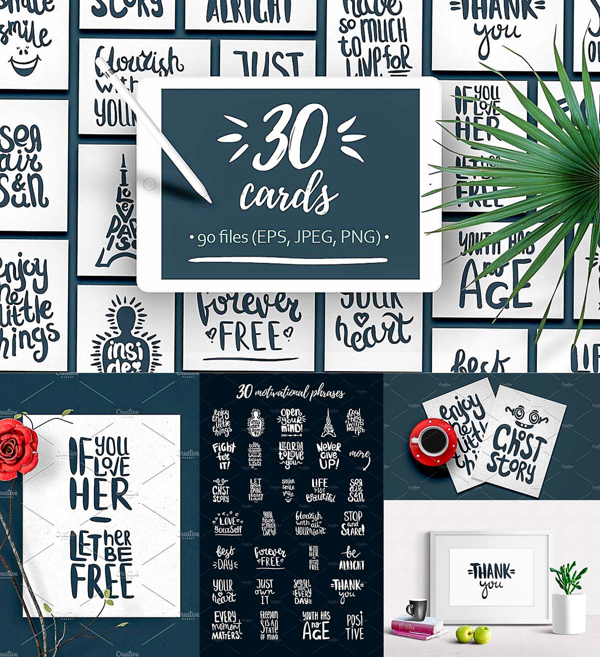 Hand drawn quotes for cards