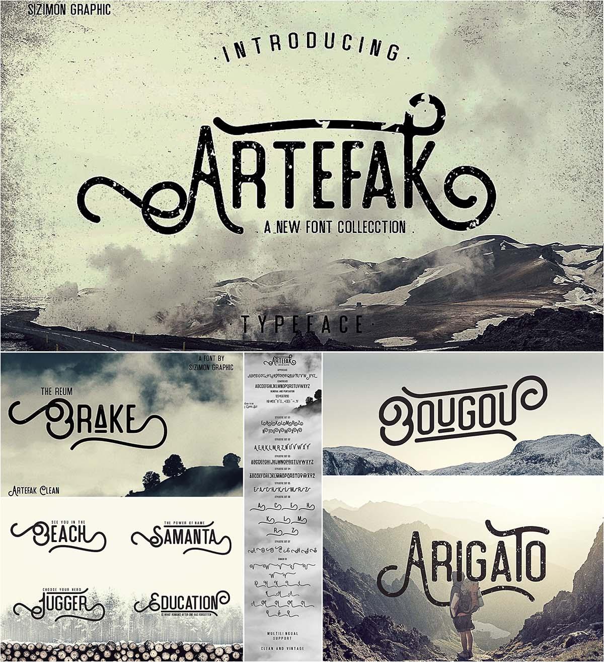 Artefak font