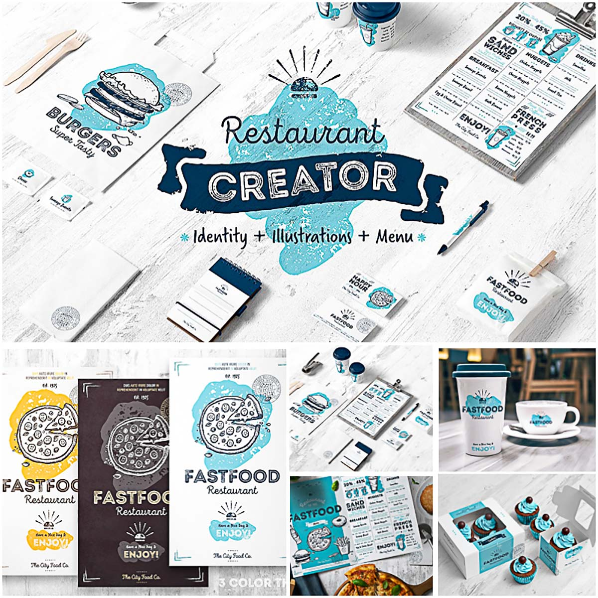 Restaurant and cafe identity creator