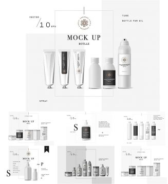 cosmetic packages mockup set