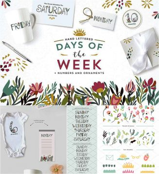 Days of the week with flourishes