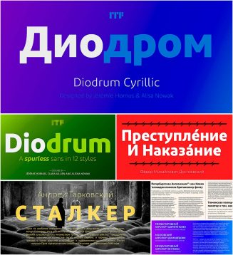 Diodrum font family