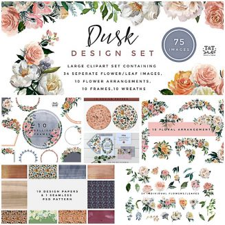 Dusk floral design set
