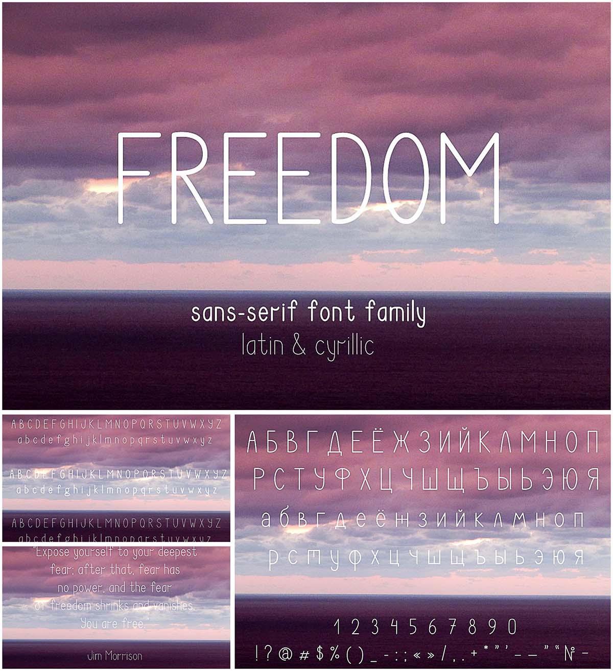 Freedom font family cyrillic