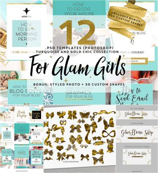 Glam girls templates pack