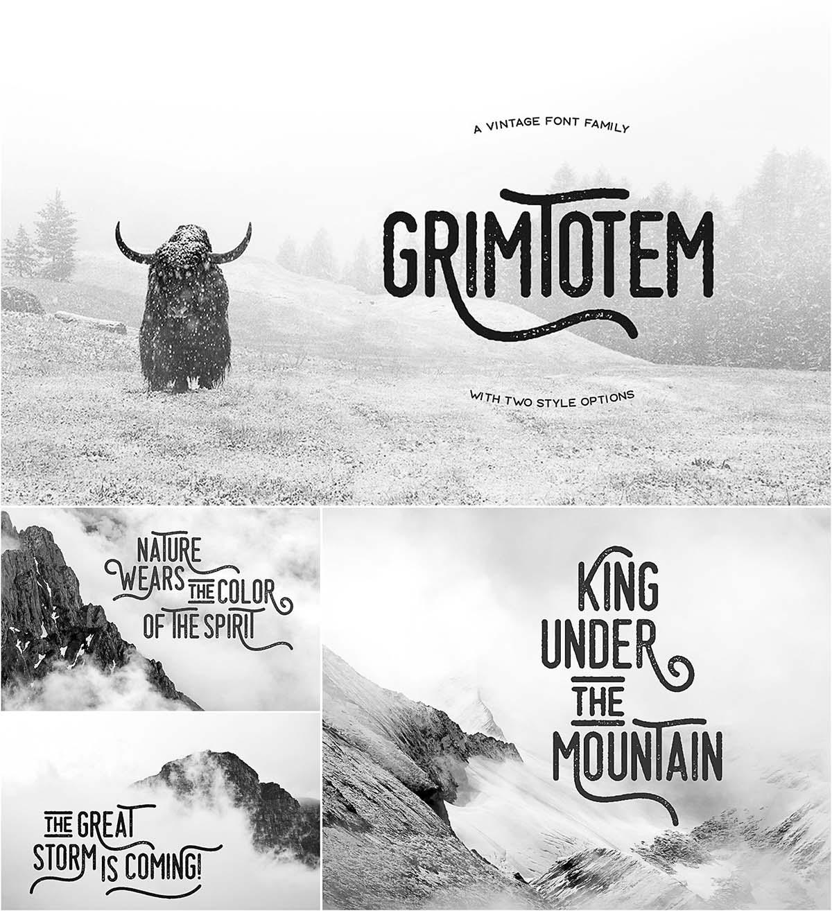 Grimtotem font