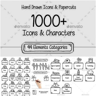 1000 icons and characters collection