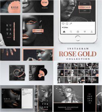 Instagram Rose Gold pack