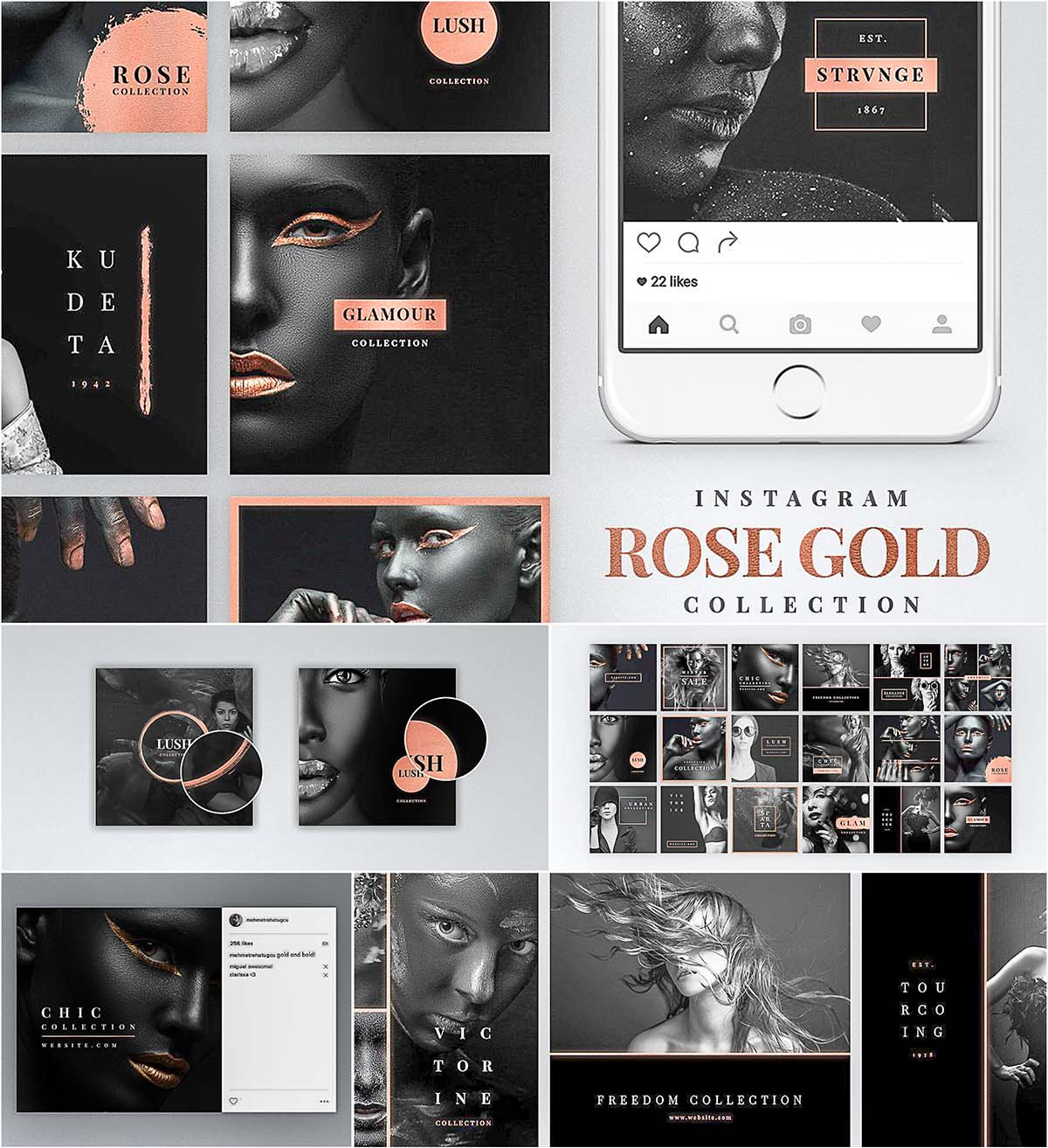 Instagram Rose Gold pack