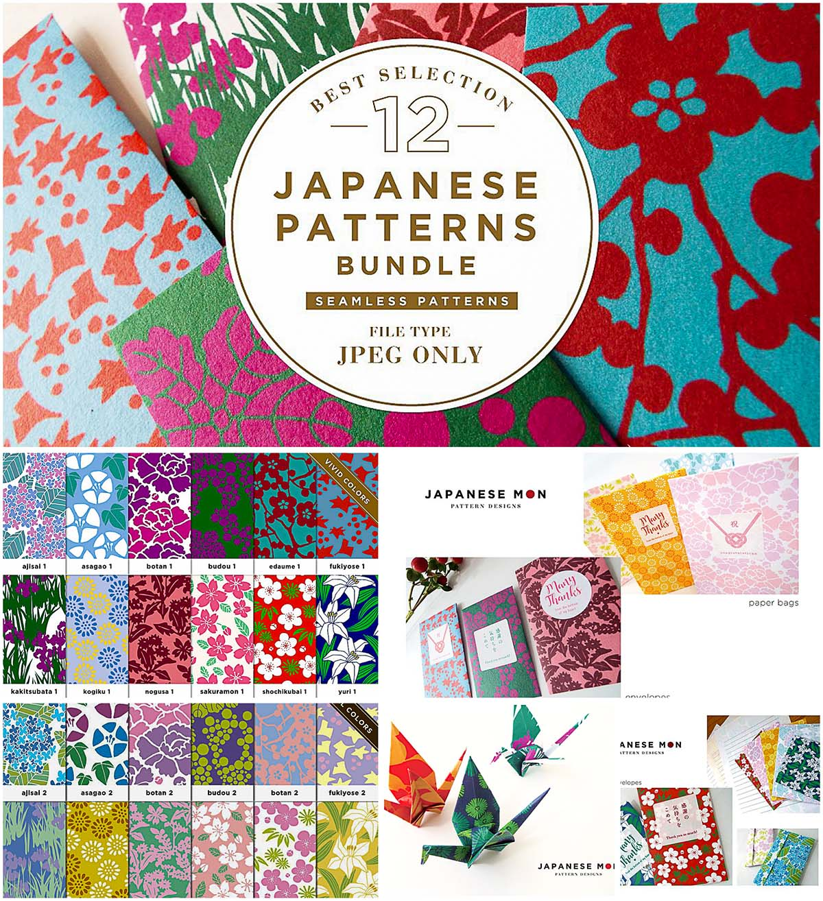 Japanese patterns bundle