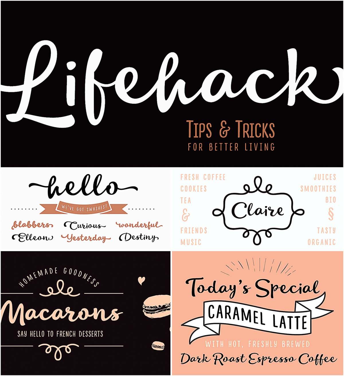 Lifehack font family cyrillic