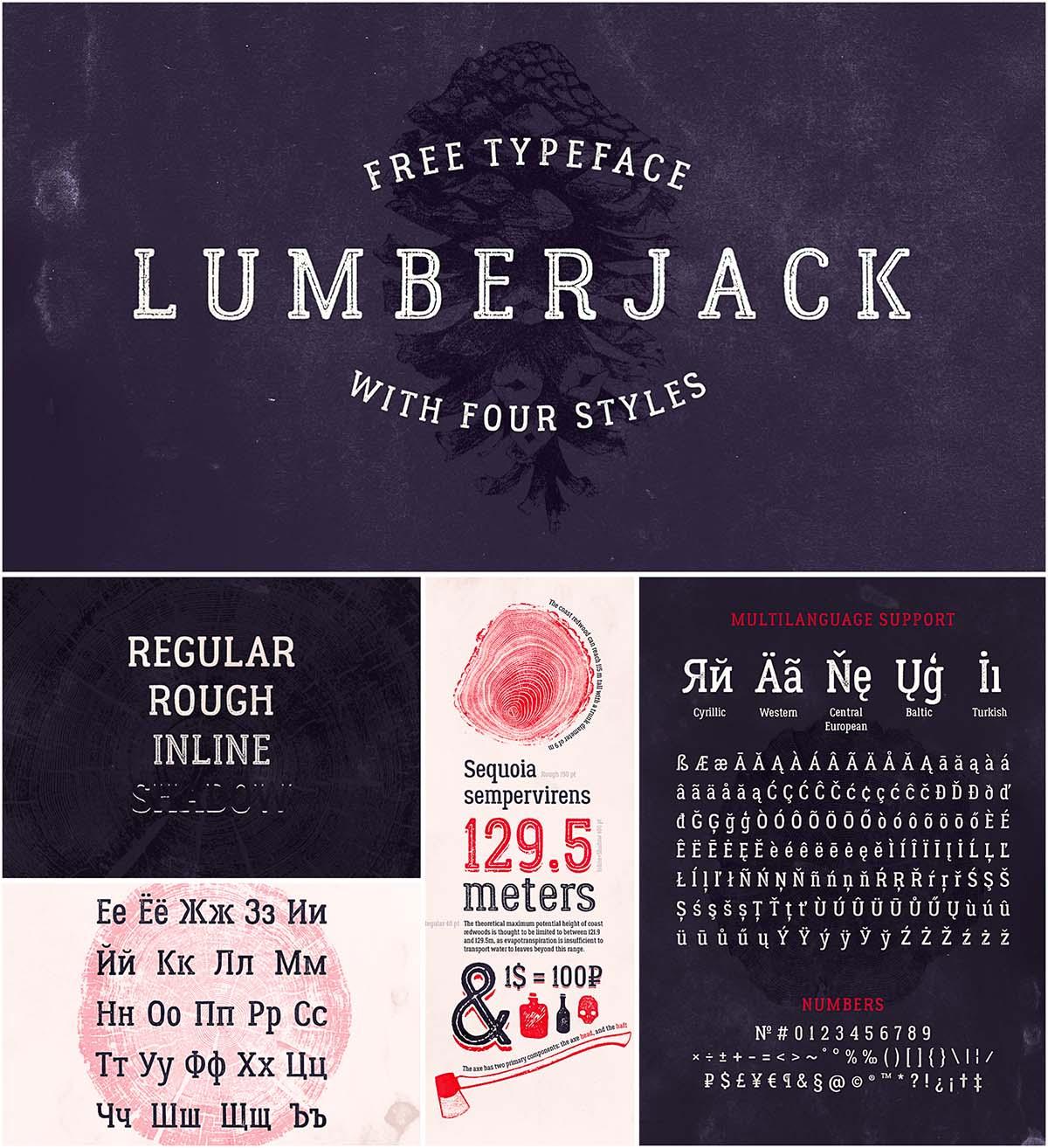 Lumberjack cyrillic font
