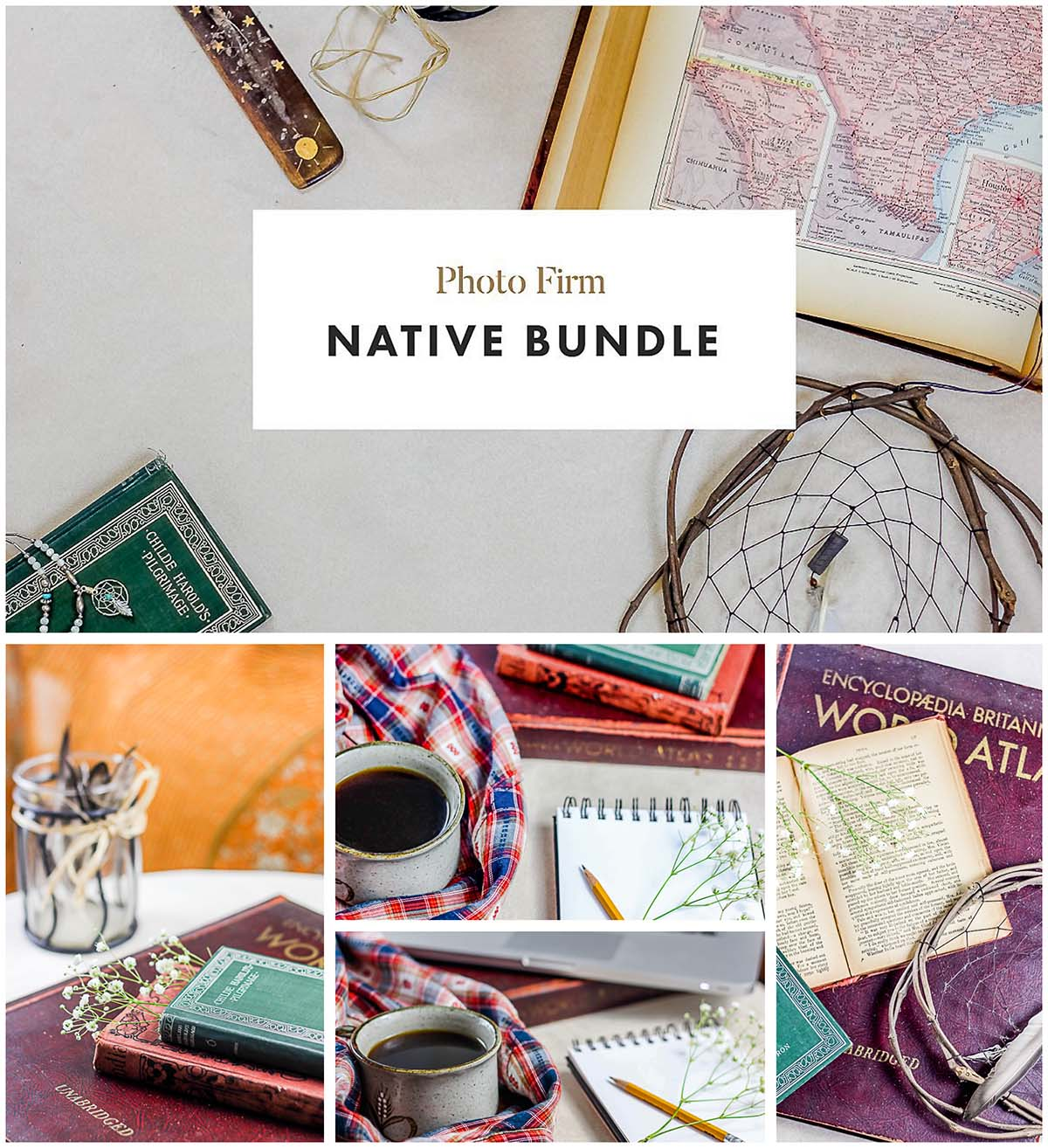 Native stock photo set