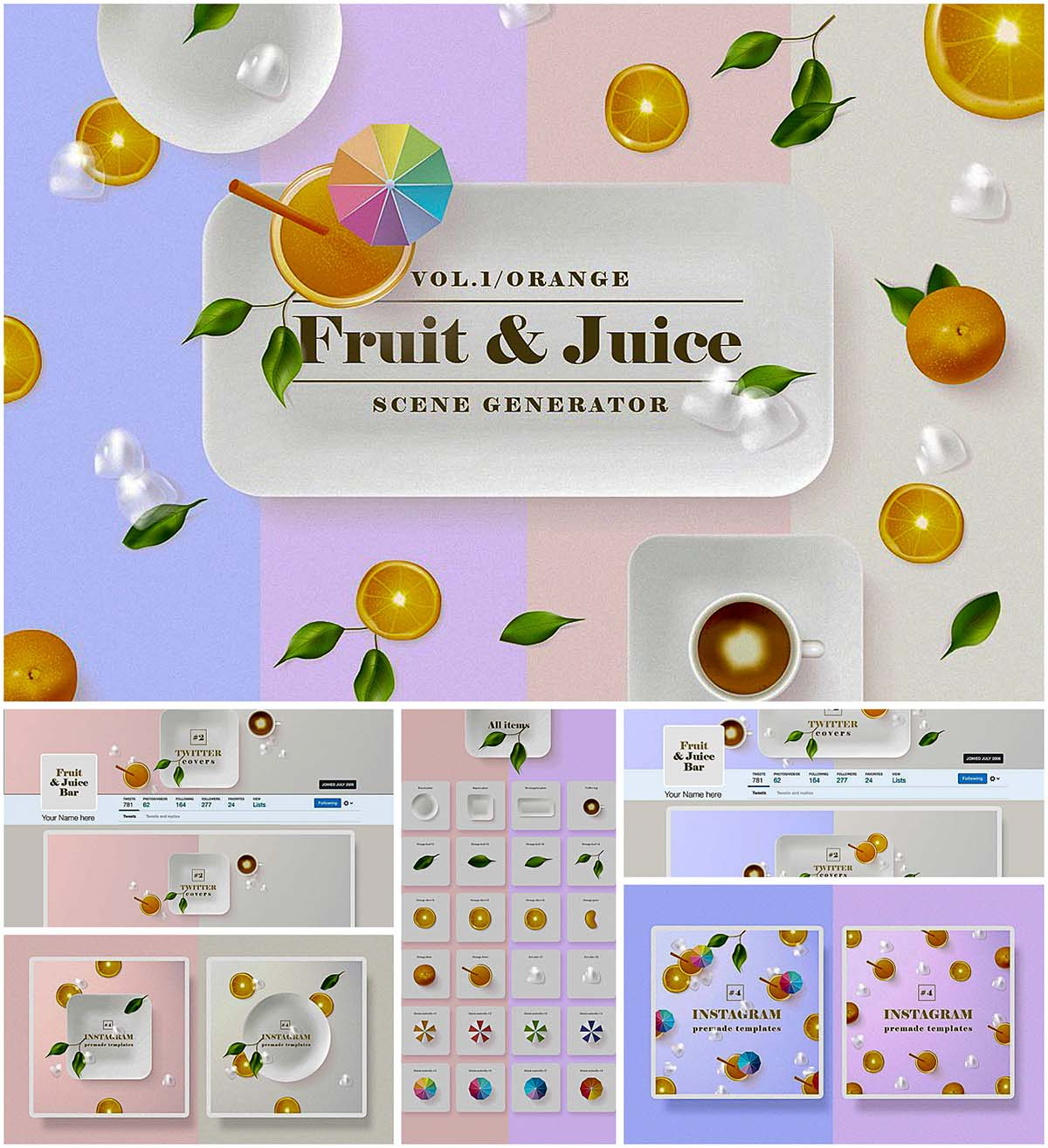 Orange fruit scene generator