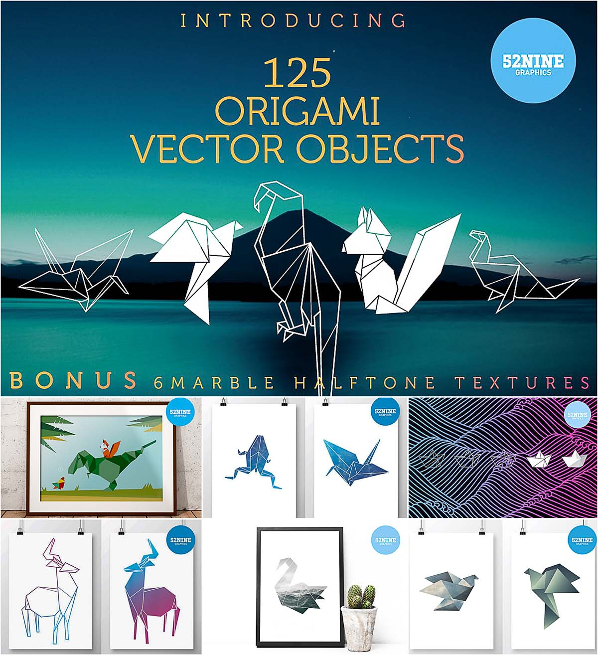 Origami vector pack