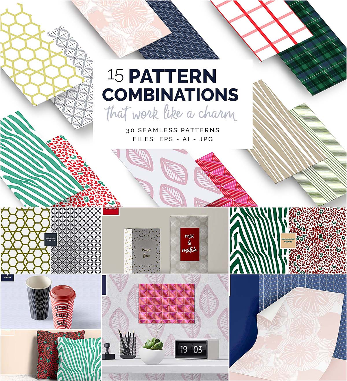 Pattern combinations vector set