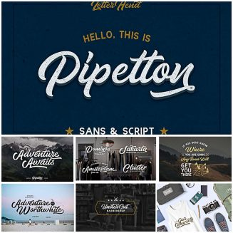 Pipetton fonts