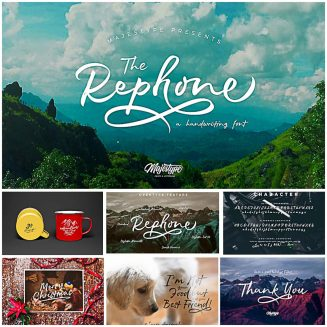 Rephone handwriting font