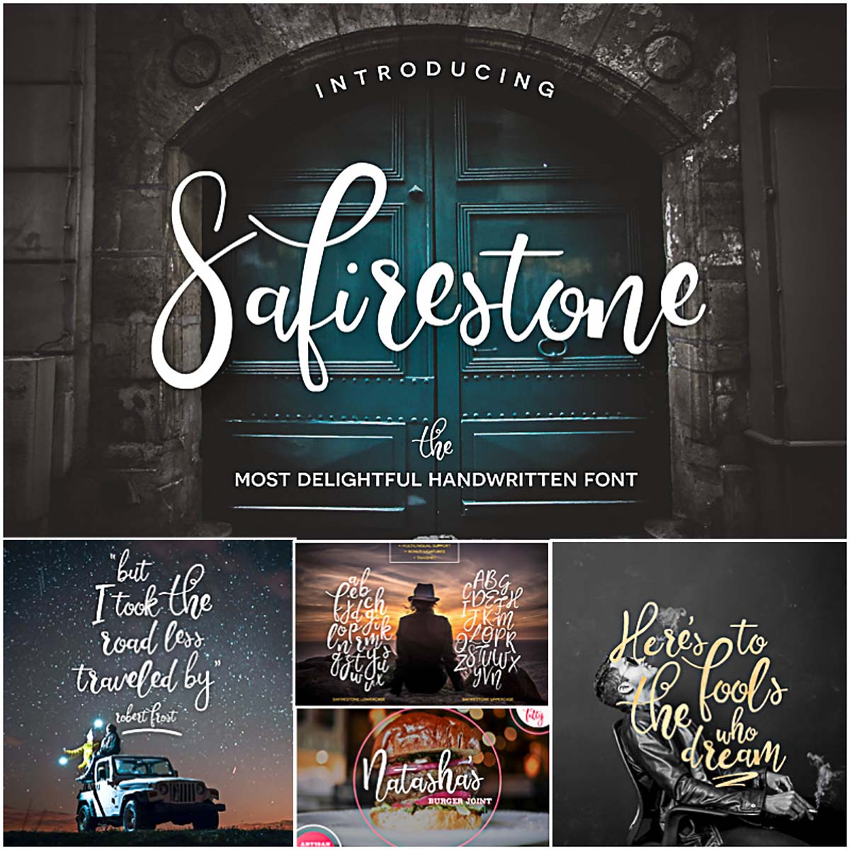 Safirestone calligraphy font