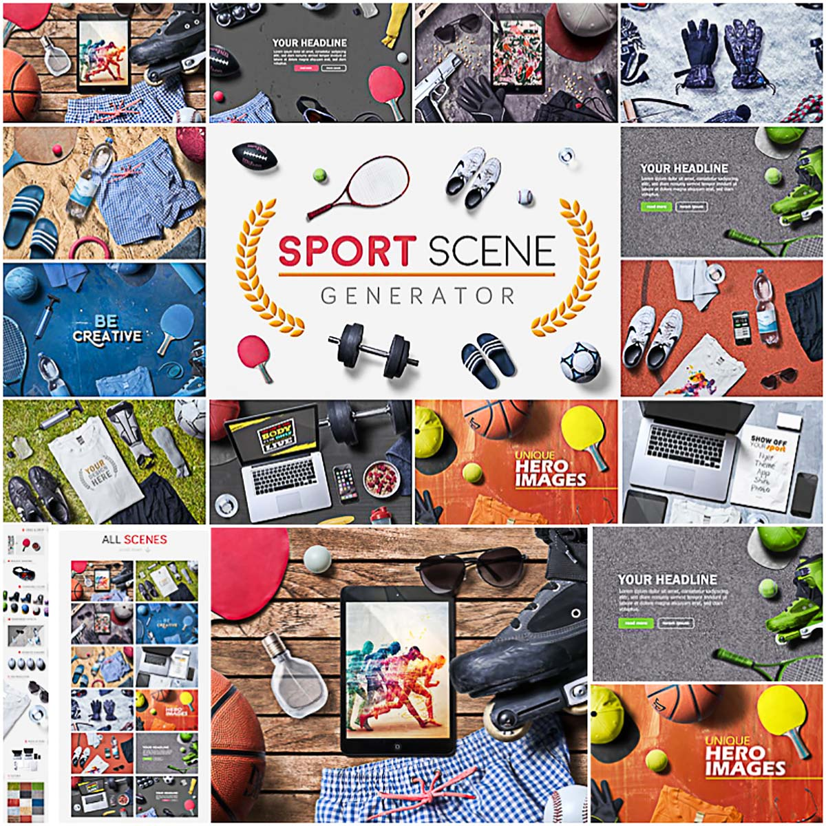 Sport scene creator