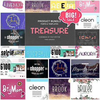 Treasure font collection