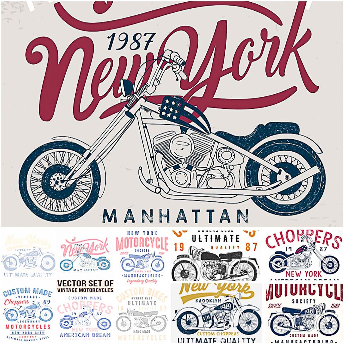 10 vintage motorcycle T-Shirt prints