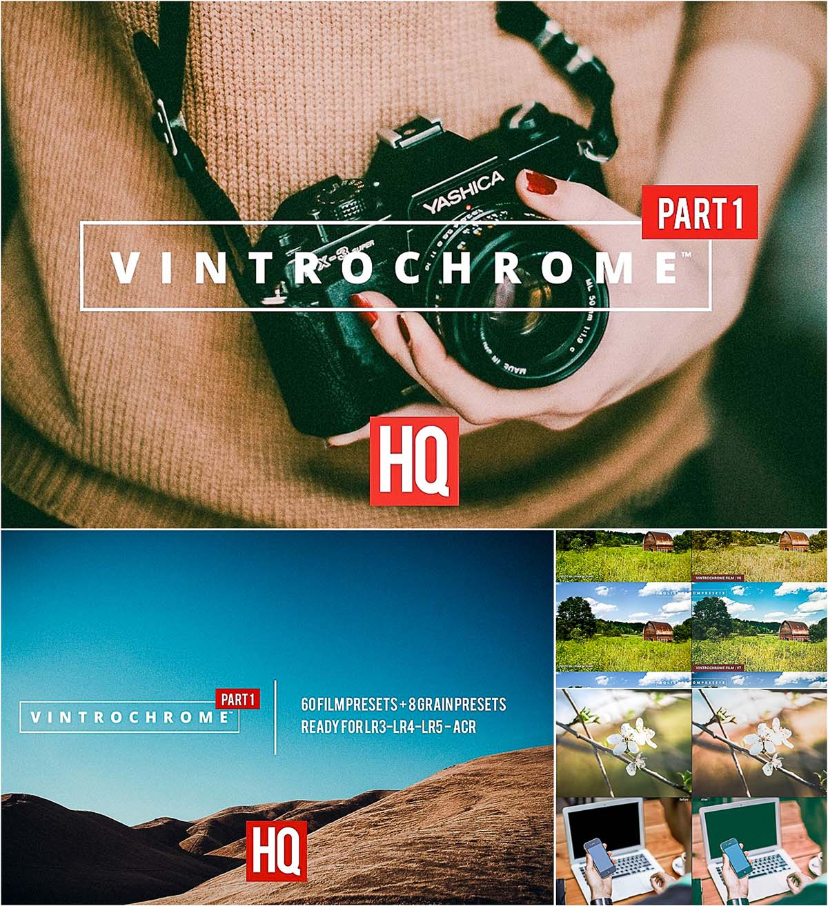 Vintrochrome vintage lightroom presets set