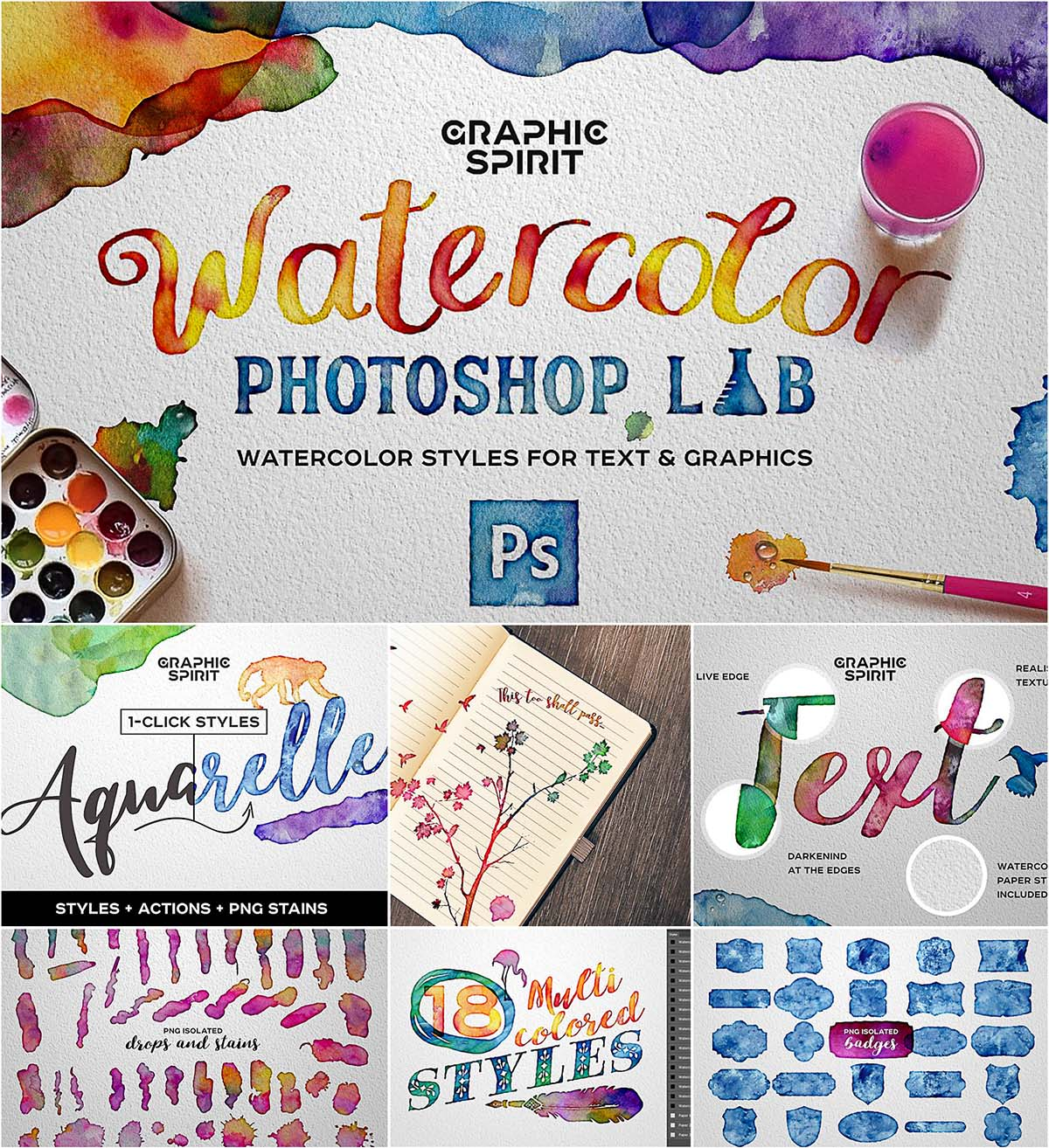 Watercolor effect for photoshop