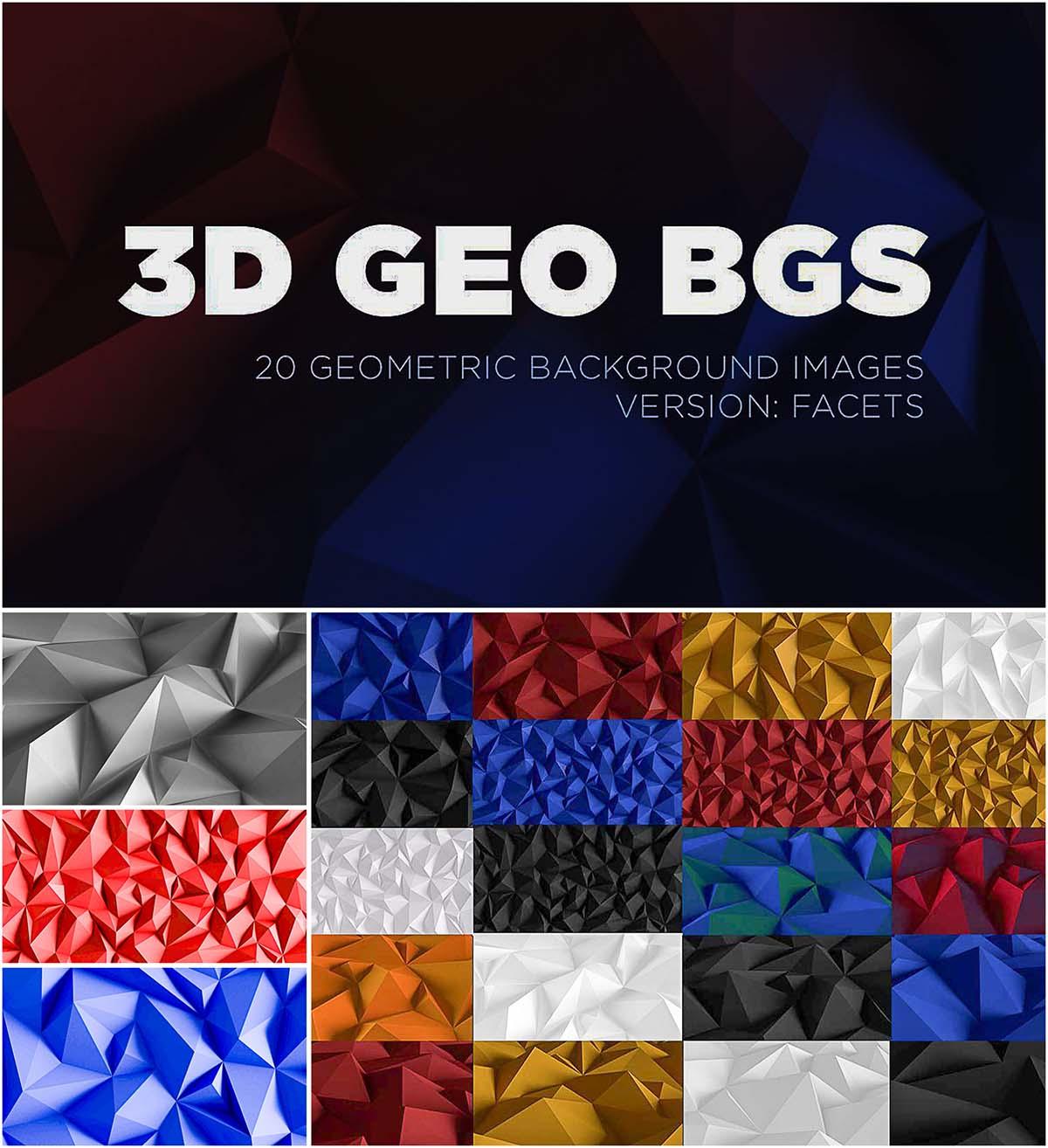 Geometric background polygon 3d