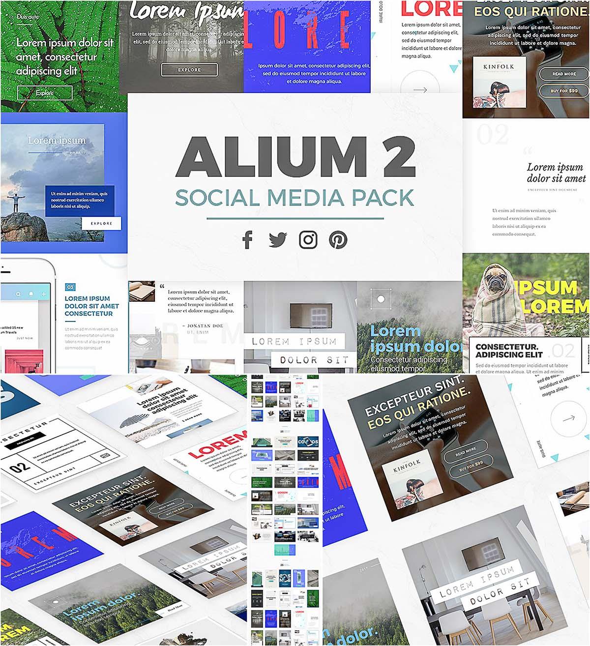 Social media pack Alium