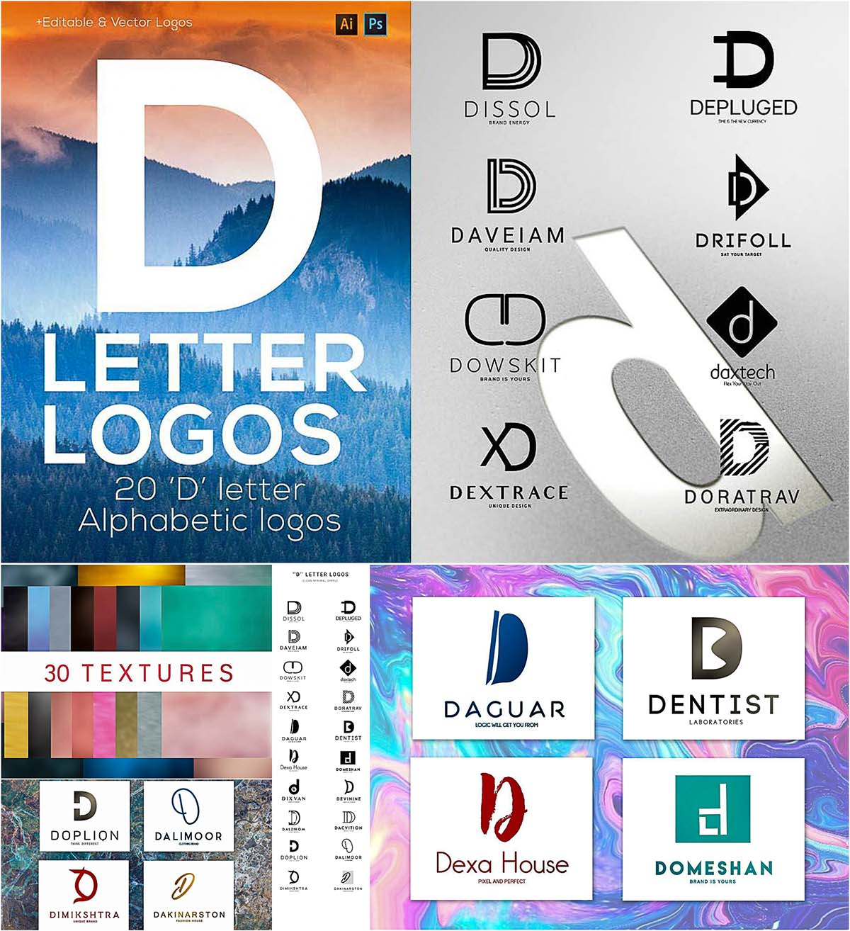 Alphabetic logo pack
