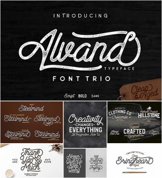 Alvand font trio combinations
