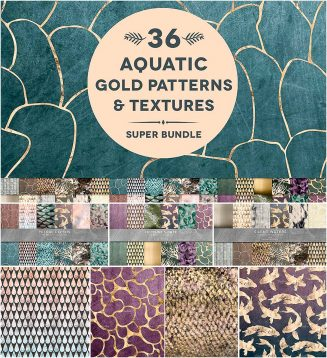 36 aquatic textures bundle
