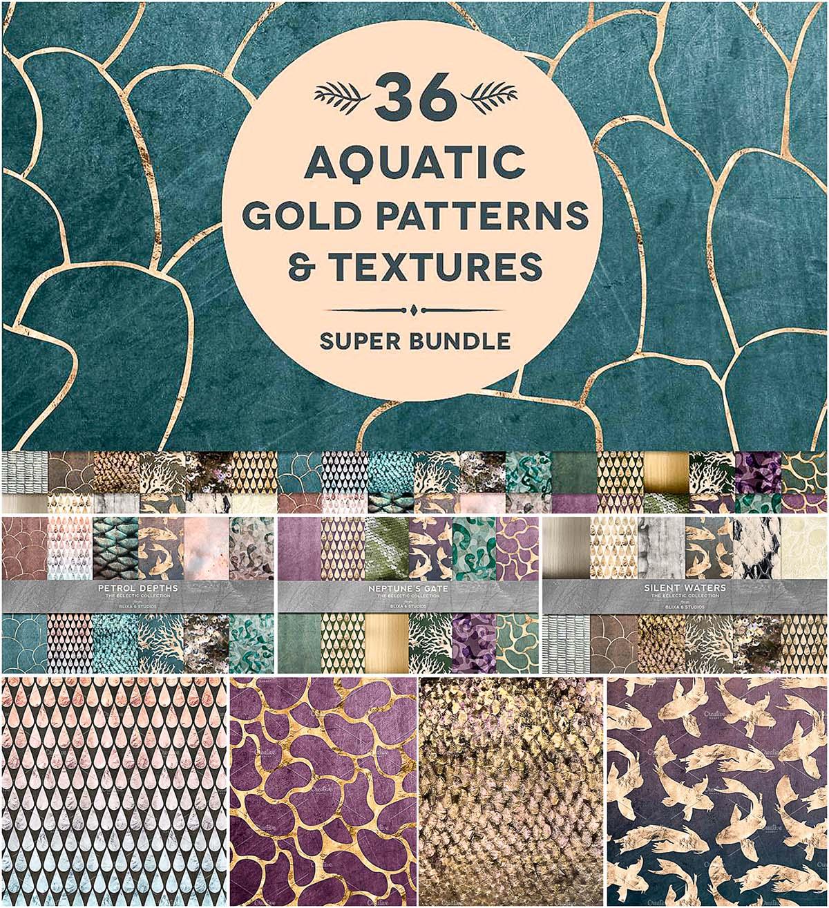 36 aquatic textures bundle