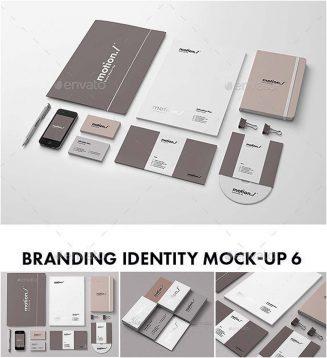 Branding mockups set