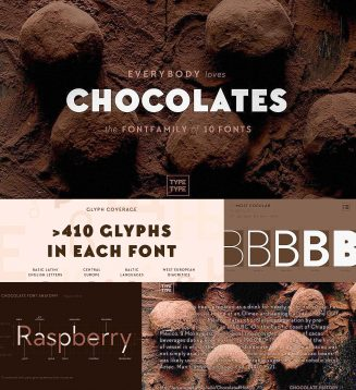 Chocolates font family