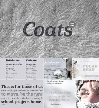 Coats cyrillic font family