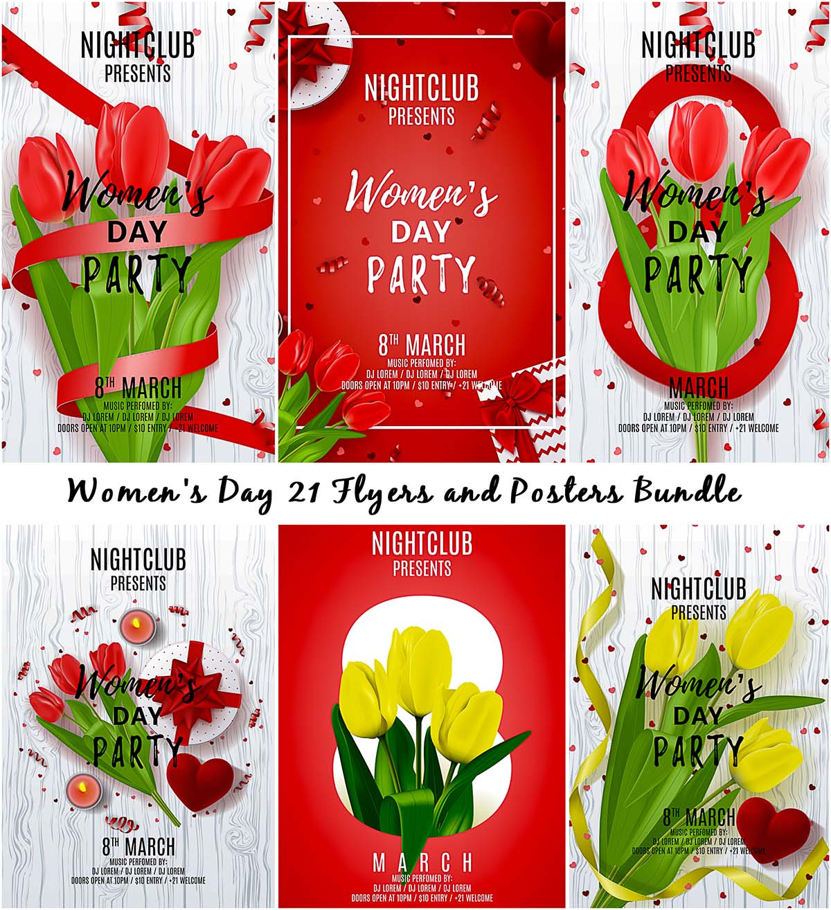 21 Flyers and posters for Womens Day