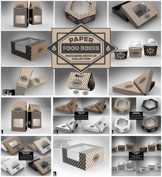 Food Packaging big mockup set