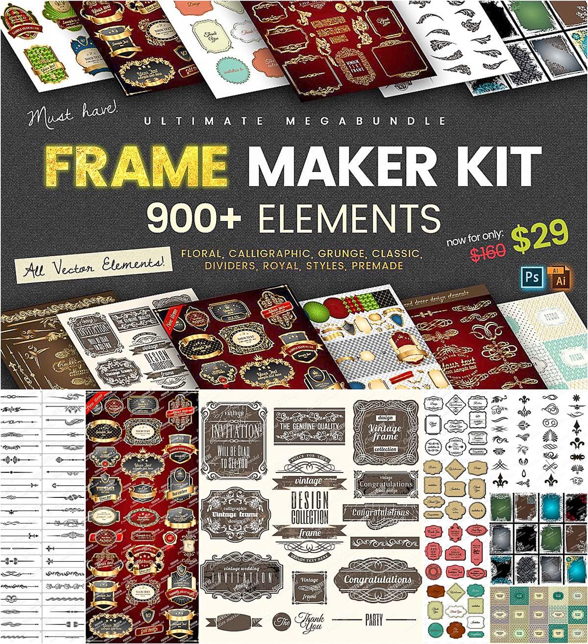 Mega frame collection