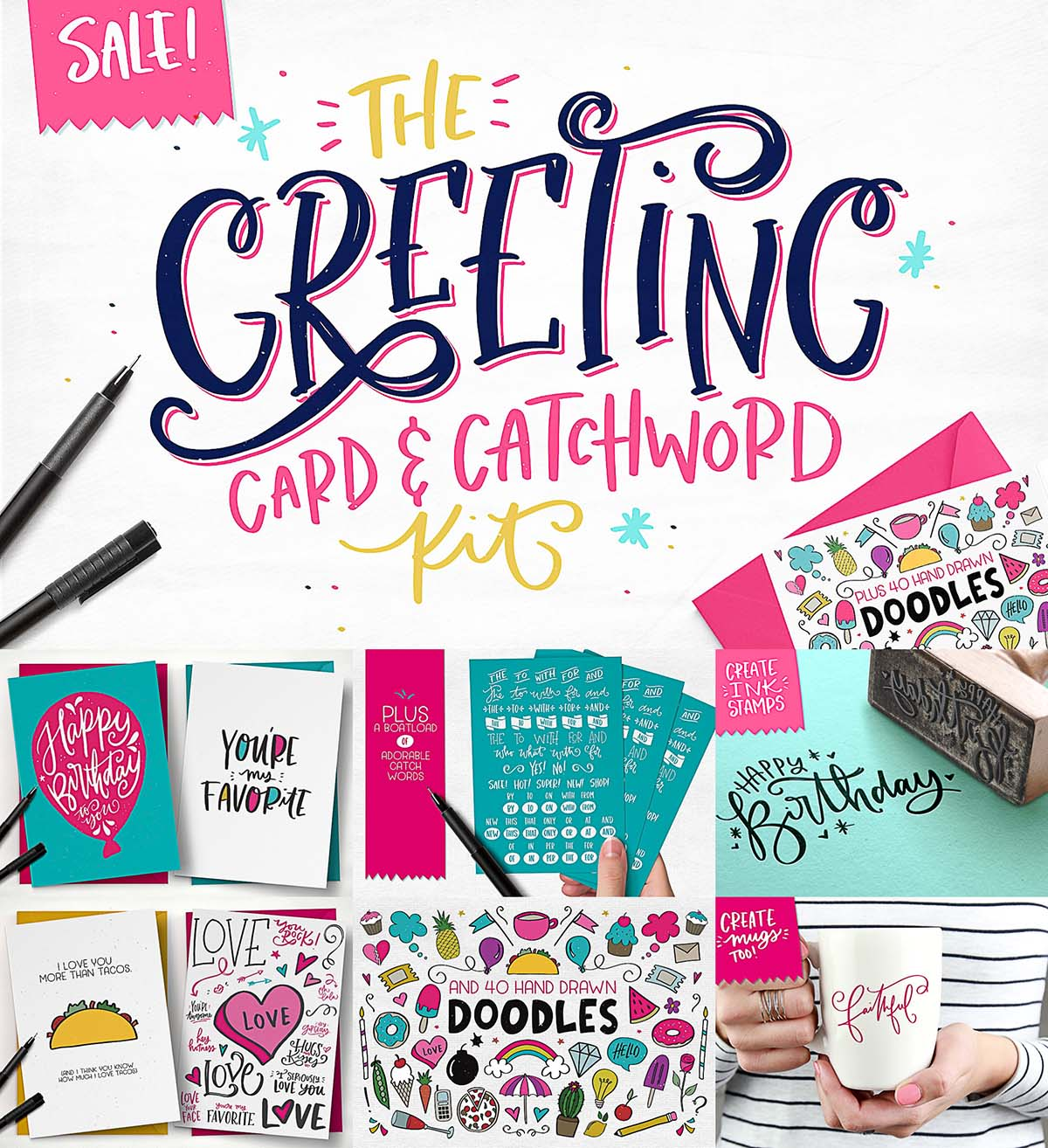 The greeting card and catchword bundle