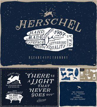 Herschel font with bonus