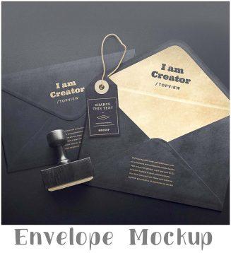 Envelope stylish mockup