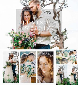 Luminious presets and actions for wedding