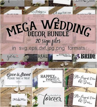 Wedding sign decor bundle