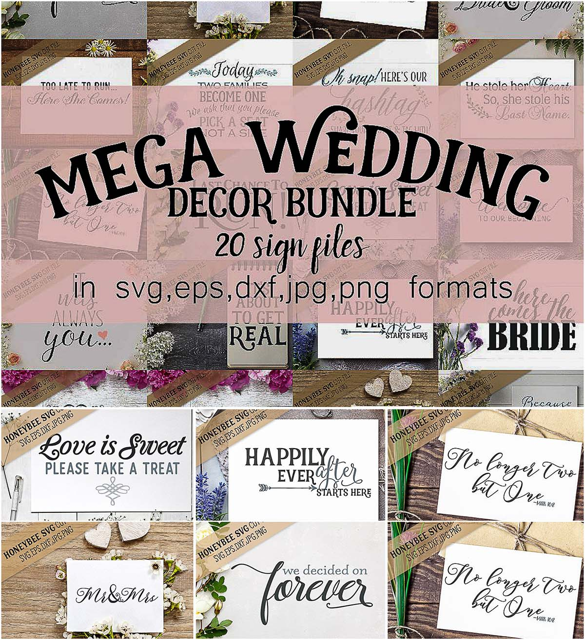 Wedding sign decor bundle