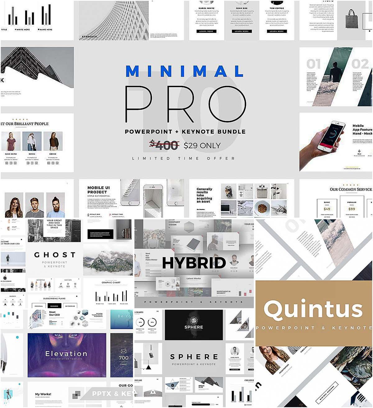 Minimal pro presentations keynote powerpoint