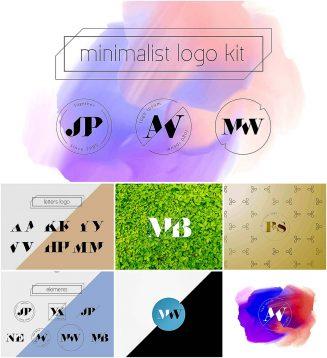 Minimalist logo kit with stamps
