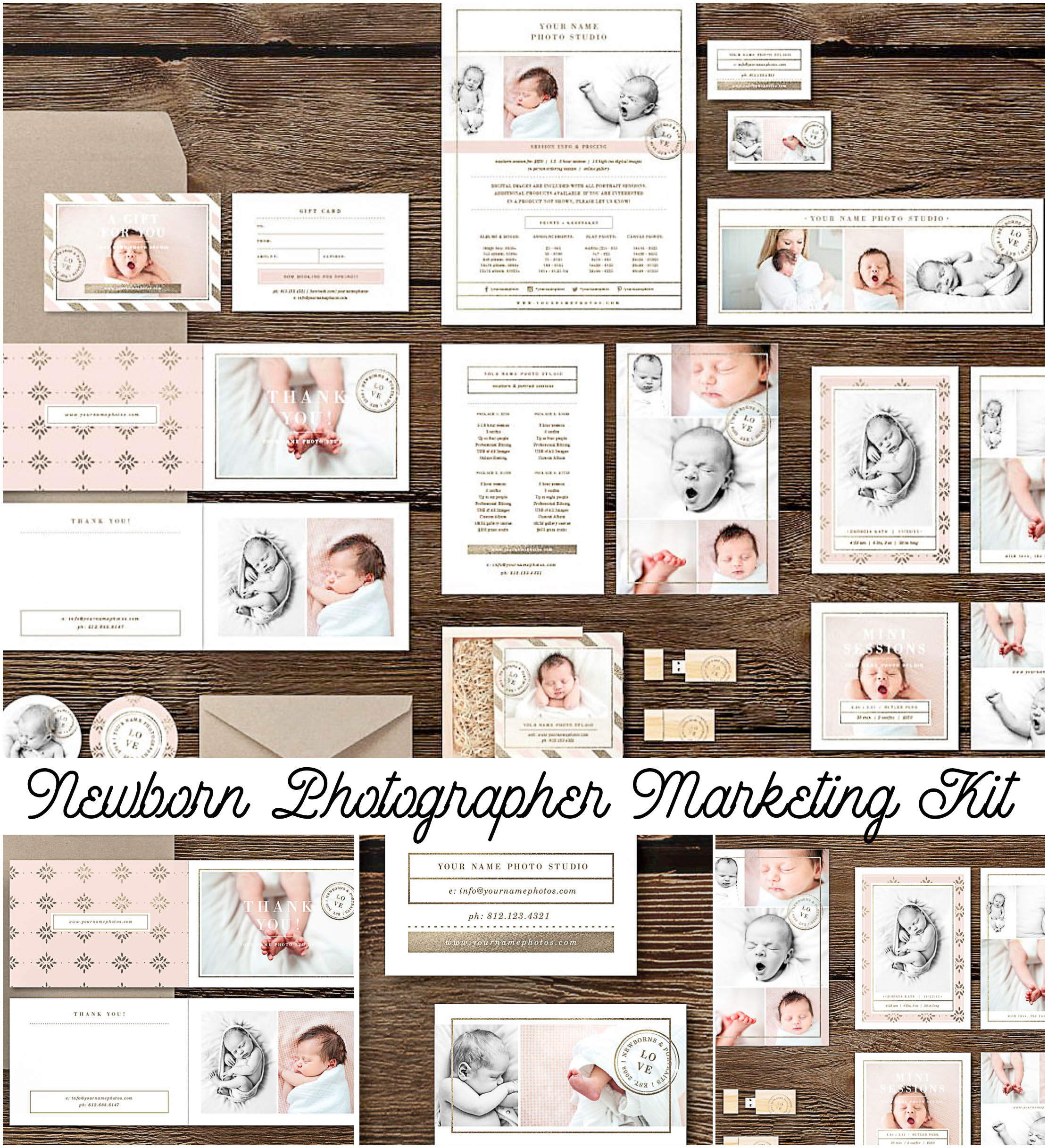 Newborn photography marketing kit