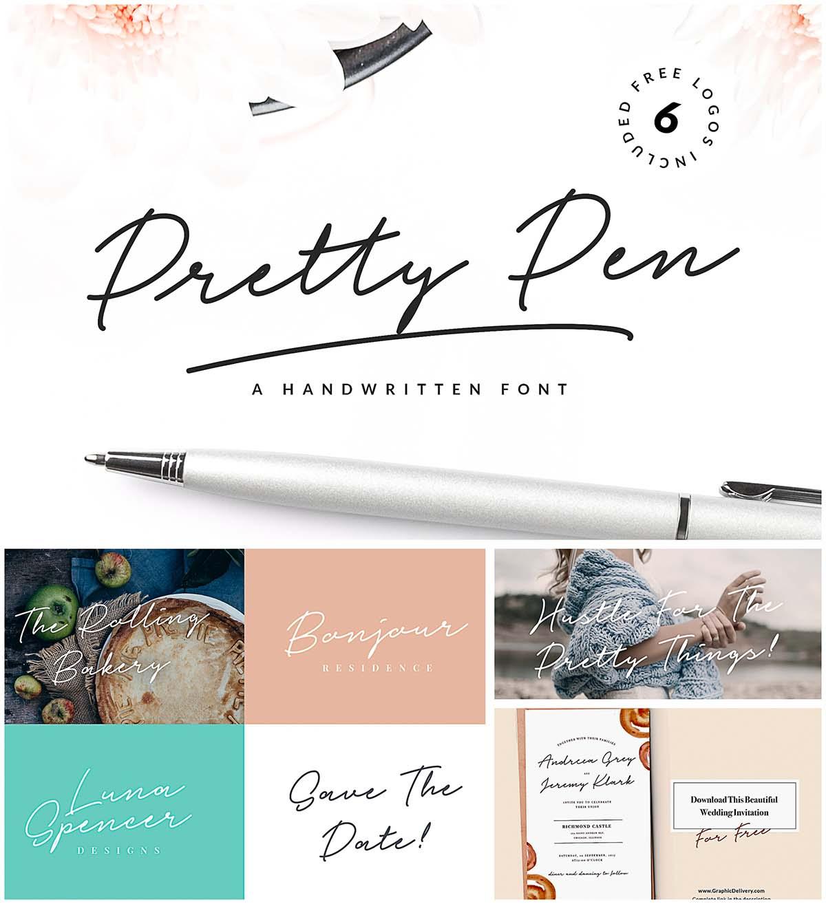 Pretty pen font